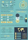 Blue-yellow info elements — Stock Vector