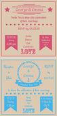 Kwadrat wesele karty — Wektor stockowy