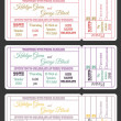 Vintage wedding ticket invitations set — Stock Vector #46397633