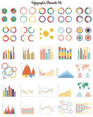 Big set of infographic elements — Stock Vector