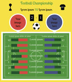 Football field Infographics — Stok Vektör