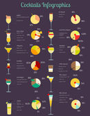 Cocktails Infographic — Stock Vector