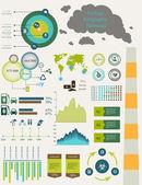 Ecology flat infographics — Stock Vector