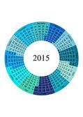 Circle Calendar 2015 year template — Stock Vector