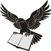 Орел держащий книгу — Stock Vector