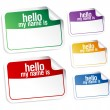 Name tag blank stickers. - Stockvectorbeeld