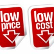Low price stickers set. - Stockvectorbeeld
