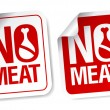 No meat stickers. - Stockvectorbeeld