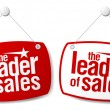 The leader of sales signs. — Stock Vector