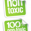 Non toxic stickers. - Stock Vector
