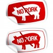 Stock Vector: No pork stickers.