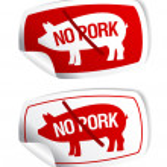 No pork stickers. — Stock Vector