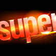 Fiery Super. - Stockvectorbeeld