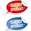 Stock Vector: Super product stickers.