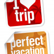 Stock Vector: Perfect vacation labels.