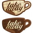 Take away stickers. - Imagens vectoriais em stock