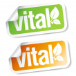 Vital stickers. - Stockvectorbeeld