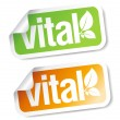 Vital stickers. — Stock Vector