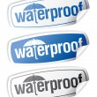 Stok Vektör: Waterproof stickers.