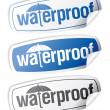 图库矢量图片: Waterproof stickers.