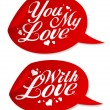 Valentine stickers. - Stockvectorbeeld