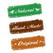 Vector stamps, natural, hand made, original - Stockvectorbeeld
