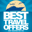 Best travel offers design template. - Stockvectorbeeld