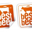 Best beef stickers - Stockvectorbeeld