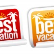 Best vacation labels. — Stock Vector