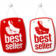 Stock Vector: Bestseller signs.