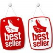 Bestseller signs. - Stockvectorbeeld