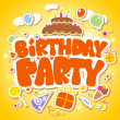 Birthday Party design template. - Stok Vektör