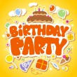 Birthday Party design template. - Vettoriali Stock