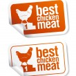 Best chicken meat stickers — Image vectorielle