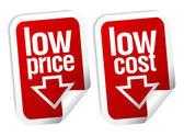 Low price stickers set. — Stock Vector