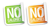 No calories stickers. — Stock Vector