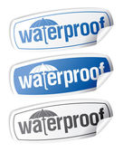 Waterdichte stickers. — Stockvector