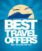 Best travel offers design template. — Stok Vektör