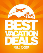 Best vacation deals design template. — Stockvector