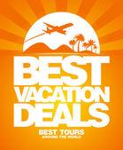 Nejlepší dovolenou obchodů šablonu návrhu. — Stock vektor