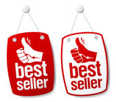 Bestseller signs. — Stock Vector