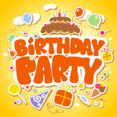 Birthday Party design template. — Vector de stock