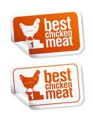 Best chicken meat stickers — Stock Vector