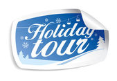 Holiday tour. — Stock Vector
