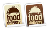 Food delivery stickers. — Stock Vector