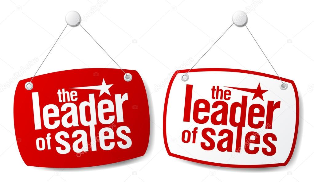 The leader of sales signs set. — Stock Vector #13885468