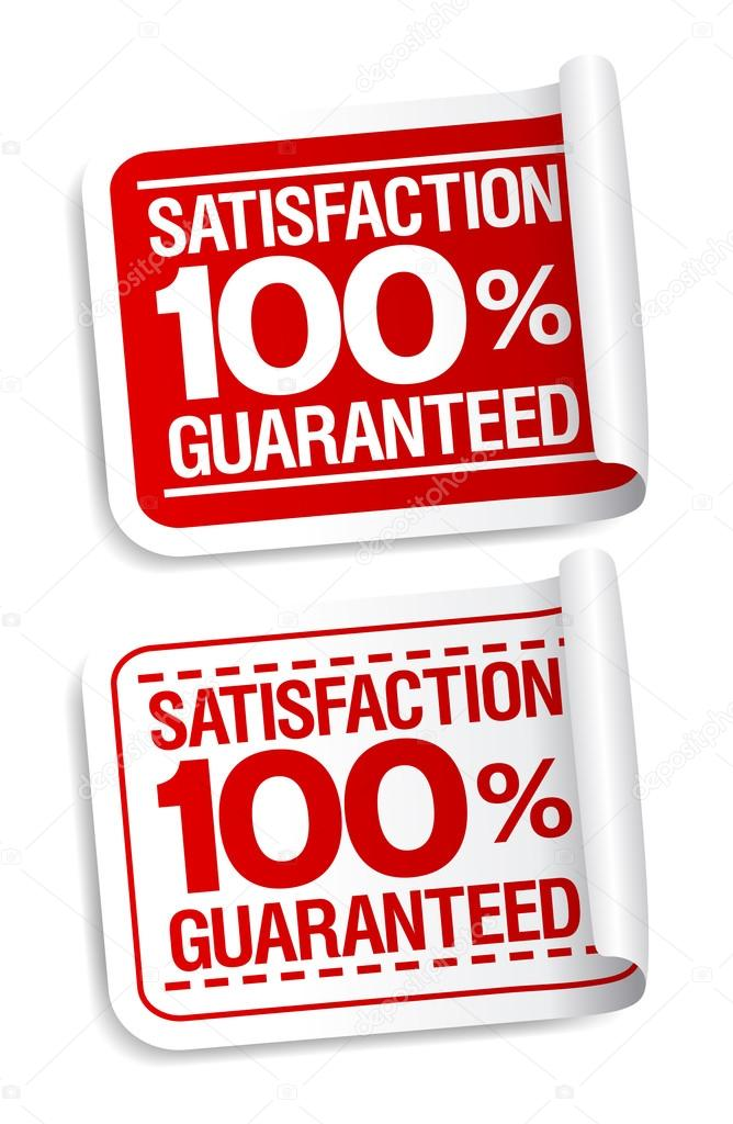 Satisfaction guaranteed stickers set. — Stock Vector #13885478