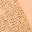 Burlap and paper background — Stockfoto