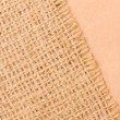 Foto Stock: Burlap and paper background