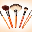 Cosmetic brushes - Stock Photo